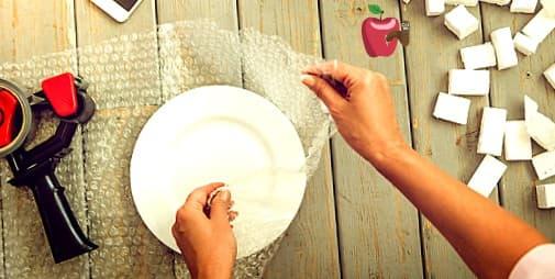 embalar platos para  mudanza dentro de Ecuador